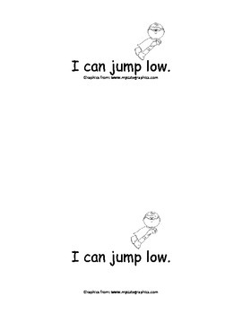 Sight Word Reader - jump