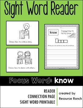 Sight Word Reader - know