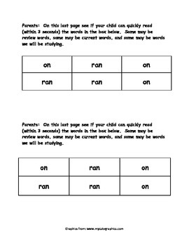 Sight Word Reader - ran