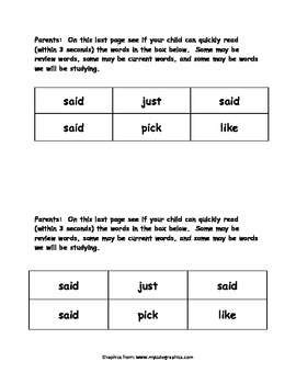 Sight Word Reader - said