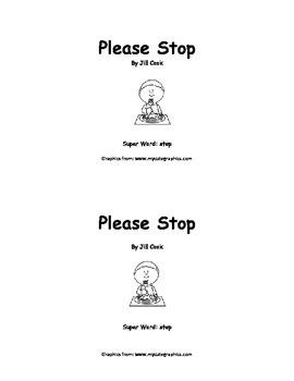 Sight Word Reader - stop