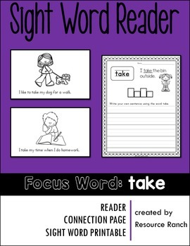 Sight Word Reader - take