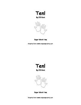 Sight Word Reader - ten