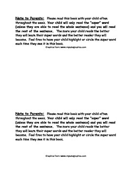 Sight Word Reader - thank