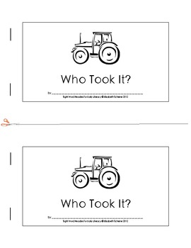 Sight Word Reader (was, I, the, in, said) about a Mystery on a Farm