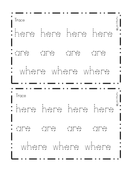 Sight Word Reader- where,are,here