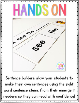 Guided Reading Projectable Books, Printable Readers, and Sentence Builders