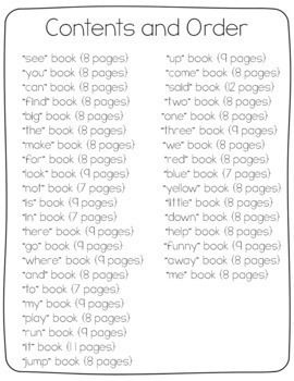 Sight Word Readers {38 Books for 40 Words}
