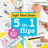 5-in-1 Flips: 100 Sight Word Books Bundle