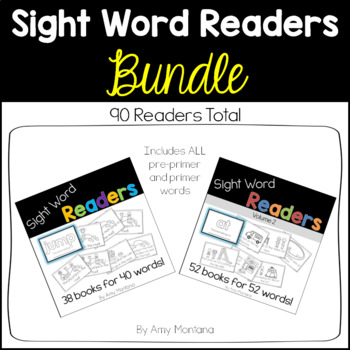 Sight Word Readers BUNDLE {90 Books for 92 Words}