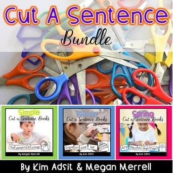 Sight Word Readers: Cut A Sentence Bundle by Kim Adsit and Megan Merrell