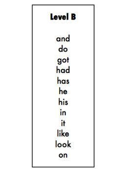 Sight Word Readers (Level B)