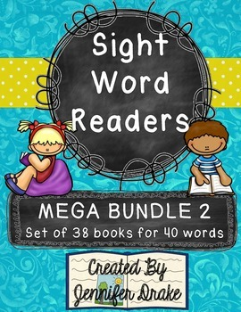 Sight Word Readers MEGA BUNDLE 2 ~Set of 38 6-page Readers~ CC Aligned!
