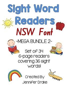 Sight Word Readers MEGA BUNDLE 2 ~Set of 34 6-page Readers