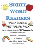 Sight Word Readers ~MEGA BUNDLE~ NSW Foundation Font Pack 29 books!