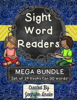 Sight Word Readers MEGA BUNDLE ~Set of 29 6 page Readers~