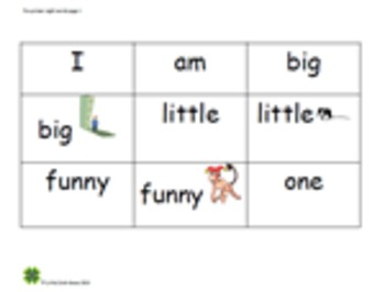 Sight Word Readers - Page 1.