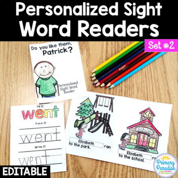 Sight Word Readers: Personalized Set 2