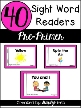 Sight Word Readers: Pre-Primer