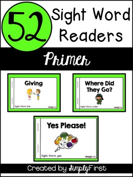 Sight Word Readers: Primer