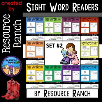 Sight Word Printable Books Guided Reading Set 2