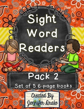 Sight Word Readers- Support Reading & Writing in Your Classroom- Pack 2