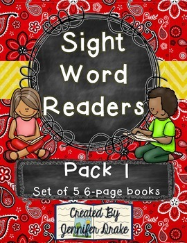 Sight Word Readers- Support Writing and Reading in Your Classroom- Pack 1