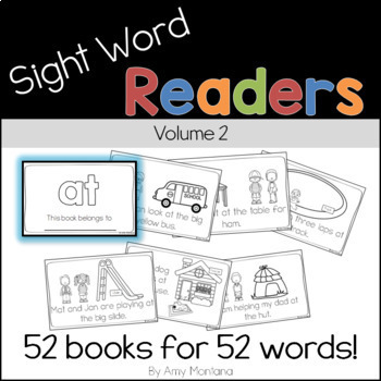 Sight Word Readers Volume 2 {52 Books for 52 Words}