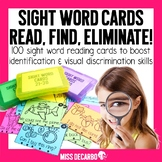 Sight Word Reading Cards: Read Find Eliminate