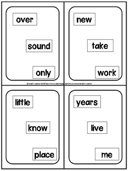 Sight Word Reading Fluency Game: 2nd 100 Words (Levels 5-8)