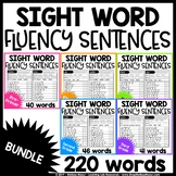 Sight Word Reading Fluency Sentences - BUNDLE