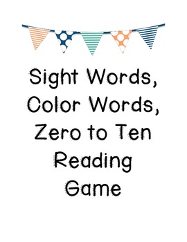 Sight Word Reading Game