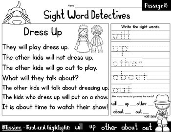 Sight Word Reading Passages - Vol. 3