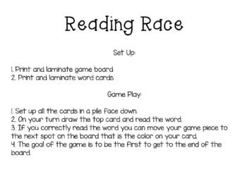 Sight Word Reading Race