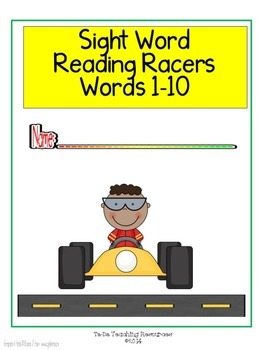 Sight Word Reading Racers Words 1-10