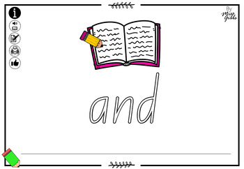 Sight Word Reading & Writing Mats - Independent level