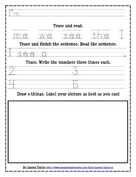 Sight Word Reading & Writing Practice