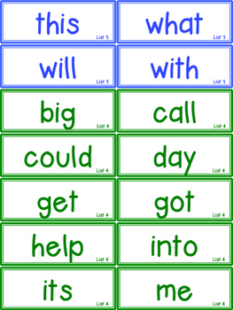 Sight Word Reading and Spelling Challenge