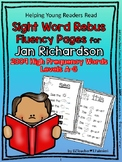 Sight Word Rebus Fluency Pages for JAN RICHARDSON'S 2009 R