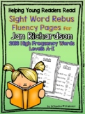 Sight Word Rebus Fluency Pages for JAN RICHARDSON'S 2016 R