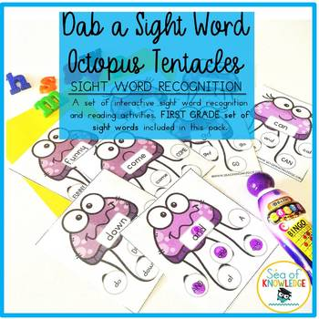 Sight Word Recognition Activity Dab a Word First Grade Set