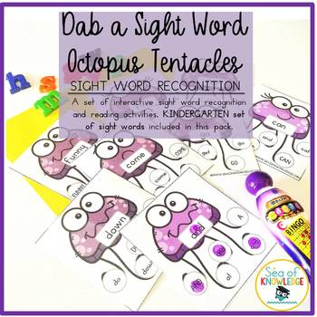 Sight Word Recognition Activity Dab a Word Kindergarten Set