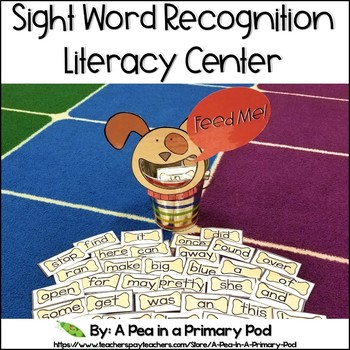 Sight Word Recognition Center (Hungry, Hungry Dog)