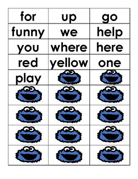 Sight Word Recognition Cookie Game