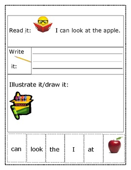 """Sight Word Recognition Sentence Builders BUNDLE    """"I can"""
