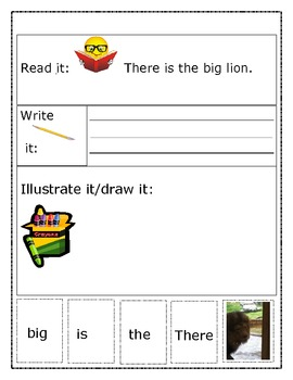 "Sight Word Recognition Sentence Builders BUNDLE ""There is the..."""
