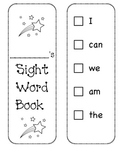 Sight Word Recording Book/ Sticker Book