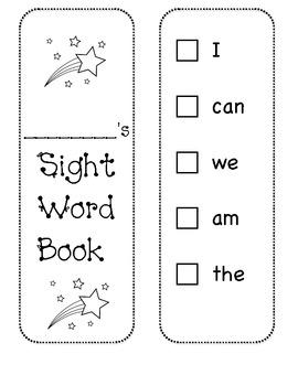 Sight Word Recording Book/ Sticker Book