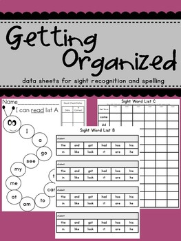 Sight Word Recording Sheets