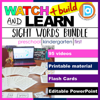 Sight Word Fluency Helper Pack, Level 1 | Kindergarten & 1st Grade Word Building